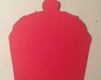 Red Cupcake Die Cuts