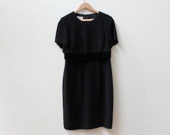 Black 90s Minimal Crop Top Dress