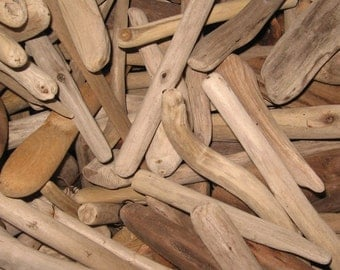 """Driftwood by the Pound-Assorted Shapes, 3""""-7"""" Long, 30+ Pieces, Buy 4, Get 1 Free!"""