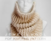 Snood knitting pattern / easy knitting patterns beginner / knit gift / christmas knit / gift for boyfriend / gift for mom / instant download