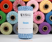 240 Yards of Twist Denim Blue Baker's Twine - String - Embellishment Packaging Craft Party Supplies