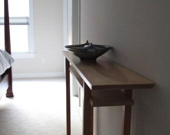 Vanity Table: Narrow Console Table/ Sofa Table/ Narrow Side Tables  Mid  Century