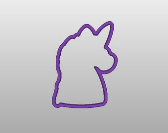 "Unicorn Head cookie cutter  - Various sizes from 2""-5"""