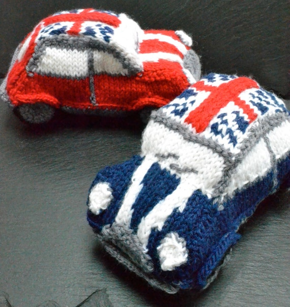 mini cooper knitting pattern
