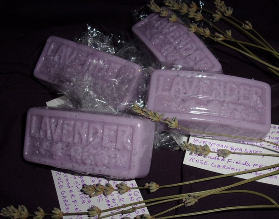 Shipping Included  Lavender Spa Bars with Pink Himalayan Salt for Pampering in the Bath