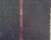 SALE-35 DOLLARS-Sleep Diary-11x14- Monoprint- Hand-Pulled Print