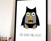 Bat Owl A4 Print (BatMan)