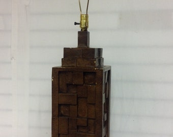 Brutalist Style Table Lamp