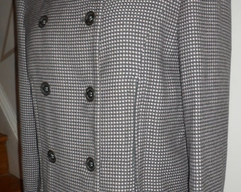 georgio armani  jacket  unique zipper design    checkered hounds tooth patternsize 46 italy