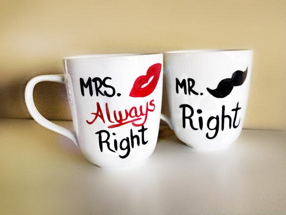 Mr and Mrs Couples Coffee Mugs Wedding Gift Anniversary Gift    Dishwasher Safe
