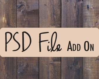 Add a PSD File to your Order