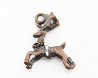 12 pcs of Christmas deer charm pendant 20x20mm-1273 -antique copper