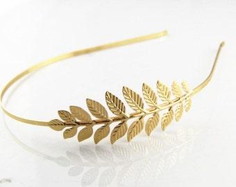 2  pcs Brass leave  Filigree headband 82mm filigree 2011-Gold-18k