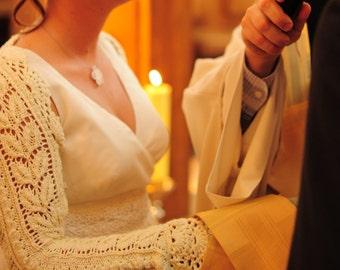 Wedding bolero, crochet wedding cover