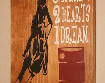 Genial Barrel Racing Wall Decor, Cowgirl Wall Art, Cowgirl Decor, Custom Wood Sign,