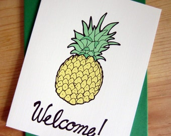 Welcome Card: Pineapple