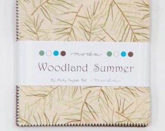 CLOSE OUT  Woodland Summer Charm Pack by Holly Taylor for Moda