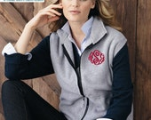 Monogrammed Vest - Full Zip Fleece Vest, Monogram Sweat, Vest, Monogram Vest, Monogrammed Sweatshirt, Sweatshirt, Monogrammed with Initials