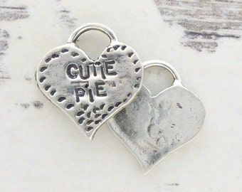 ONE Sterling Heart Charm - Cutie Pie