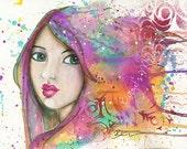 Her Universe: signed art print on velvet fine art paper
