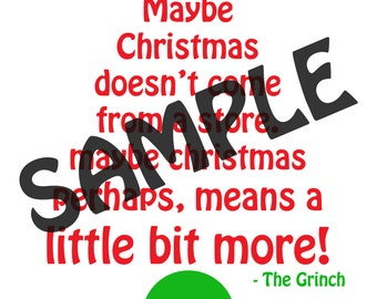 The Grinch printable 8x10 digital file
