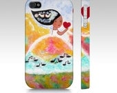 Art iPhone Case,Colorful, Whimsical girl, Art Phone accessories,Whimsical art iPhone case,Samsung Galaxy S3, S4, S5, iPhone 5