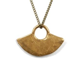 Blade. Cast bronze blade necklace.
