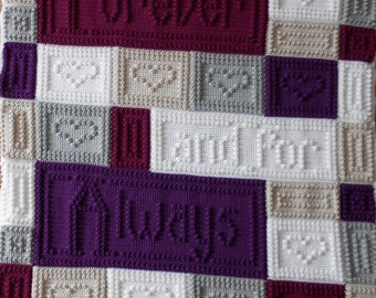 FOREVER pattern for crocheted blanket.
