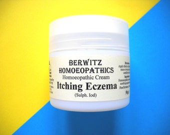 BERWITZ HOMEOPATHY Itching ECZEMA cream, 50g Jar, Dermatitis, Natural, Soothing and Healing