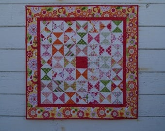 Fun and Bright Baby Girl Quilt