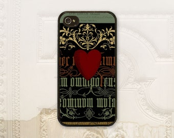 "Vintage alphabet cell phone case iPhone 4 4s 5 5s 5c 6 6+ Plus Samsung Galaxy s3 s4 s5 s6, ""funky lettering"" Heart typography V1305"