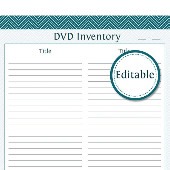 DVD Inventory also included is the Lent Items Printable