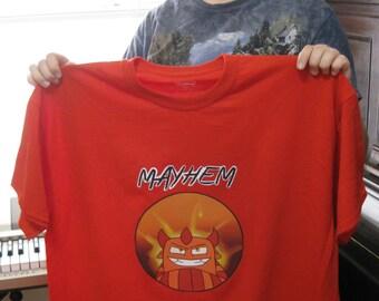 MAYHEM Original Design Short Sleeved Red T-Shirt Adult XLarge