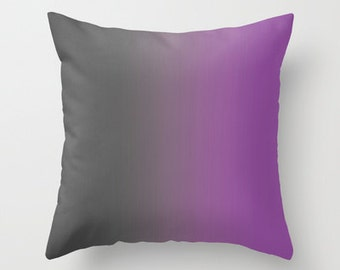 Gray to Purple Ombre Pillow Cover - Throw Pillow Cover - Includes Pillow Insert - Grey to Purple - Sofa Pillow - Home Decor - Made to Order