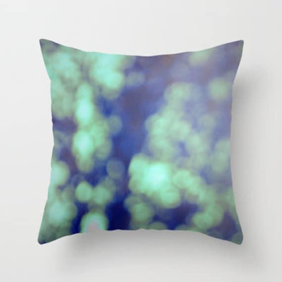 Green Throw Pillow Cover Includes Pillow Insert Bokeh