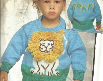 King of the Jungle Kids Pullover - pdf pattern