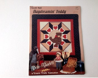 Teddy Bear Quilt, Teddy Bear Pattern, Dale Burdett Pattern, Bear Quilt Pattern, Bear Applique