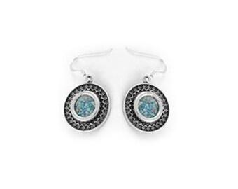 Filigree Earrings, 925 Sterling Silver Earrings, Ancient Roman Glass Earrings, Dangle Earrings, Unique Jewelry