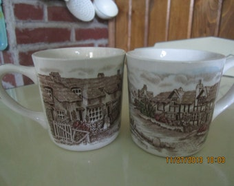 Transferware Cup Mug Johnson Bros Olde English Countryside Made in England