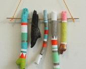 Neon Wall Art - Hand Painted Driftwood - Pastels, Neon, Boho, Summer Love