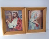 Paint by number Jesus mid century frame