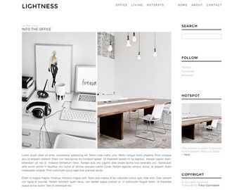 Blogger template 'Lightness 2.0'