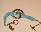 Mermaid Glow In the Dark dreamcatcher bracelet, glowing jewelry,mermaid bracelet,handmade glowing jewelry