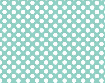 FQ - Riley Blake - Polka dot - Turquoise Blue - Cotton Poplin