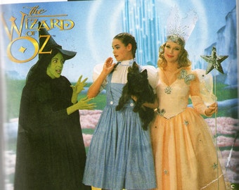Simplicity 7808 Wizard of Oz Costume Pattern Size 6-8-10 New & UnCut
