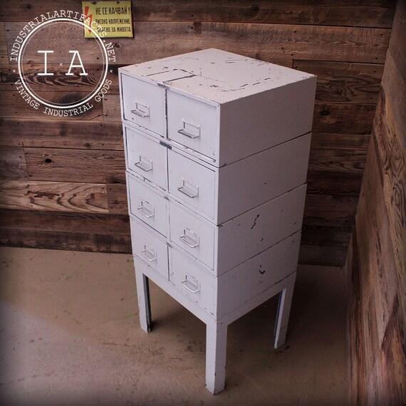 Vintage 8 Drawer Modular Cole Steel Steelmaster File Cabinet