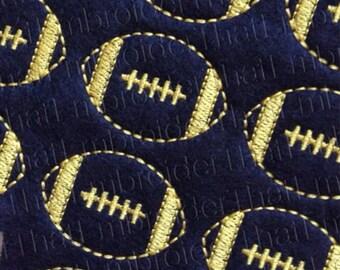 UNCUT American Football felt applique embellishments (4)