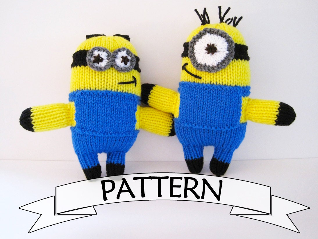 Small Heart Knitting Pattern : Minion Toy PATTERN Knit Your Own Minion Doll Minion