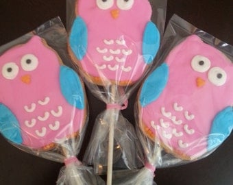 Owl Cookie Pops (1 dozen)