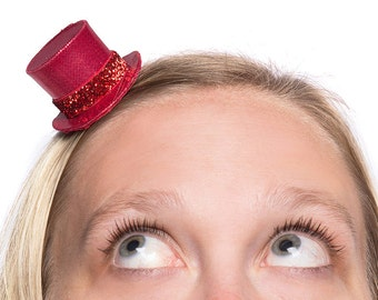 Mini Top Hat Shimmery Top Hat Single Top Hat You Pick the Color
